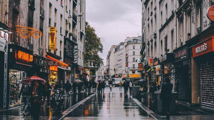 wet street, Paris