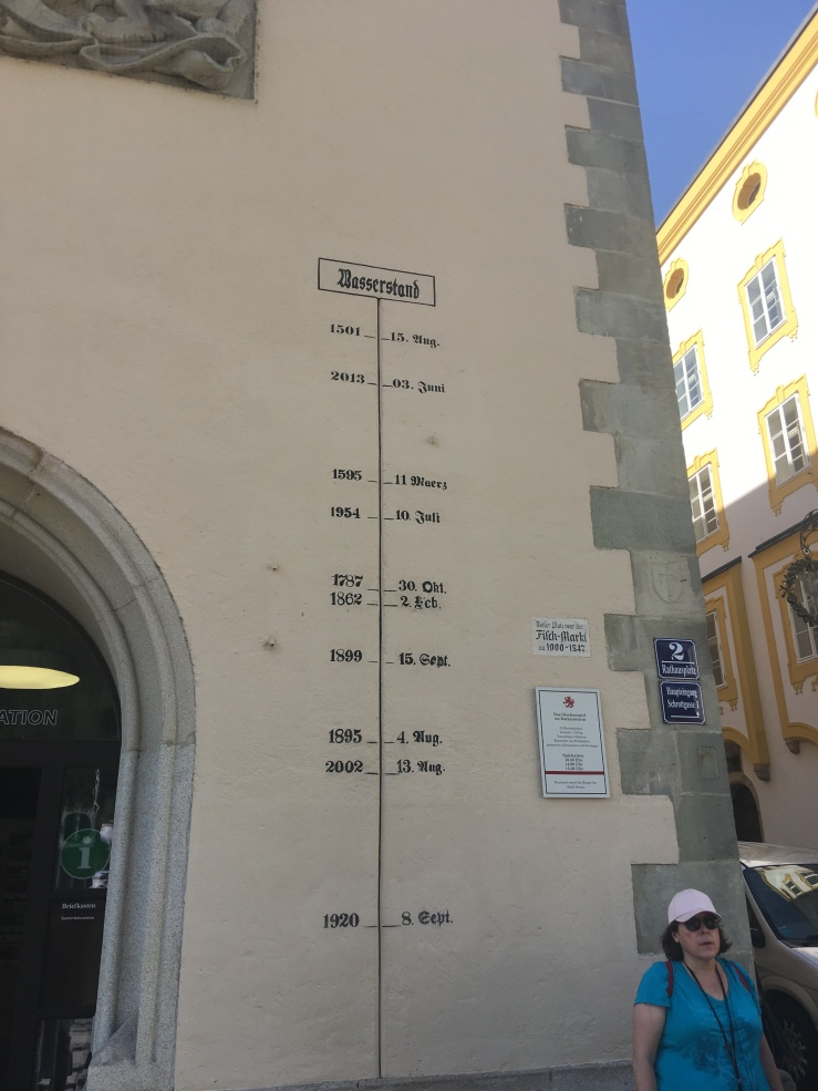 flooding, Passau, high water marks