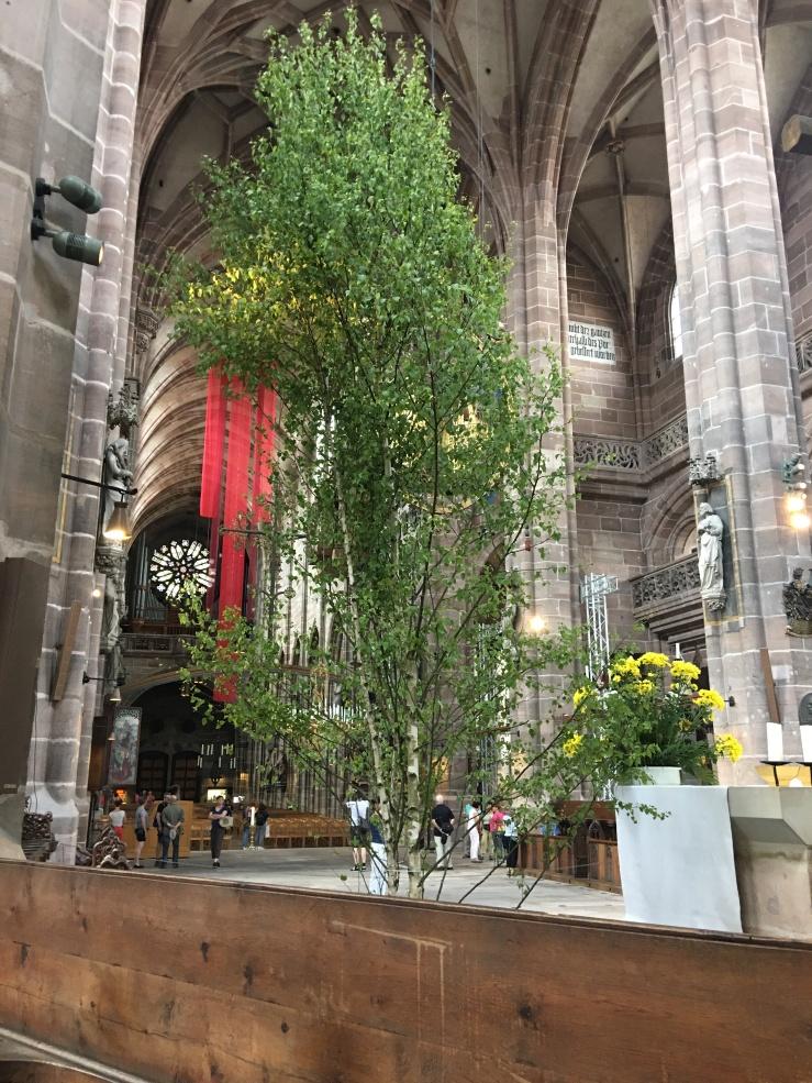 birch trees, Pentecost, Nuremberg