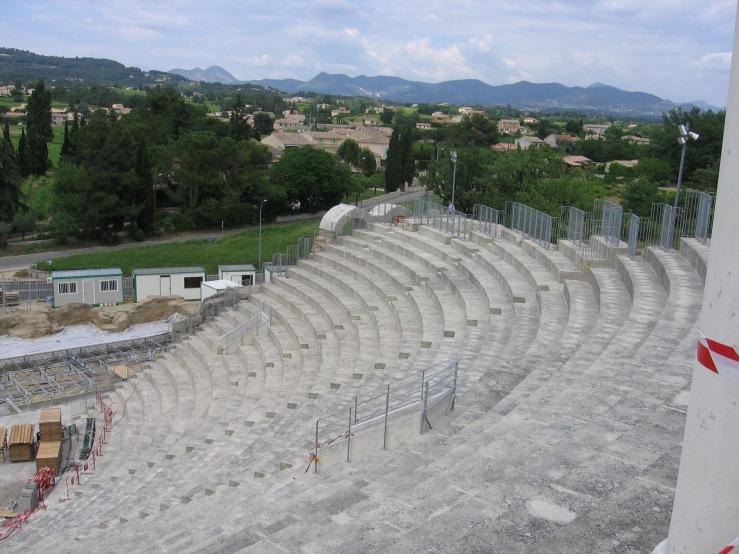 Roman theater at Vaison, under reconstruction