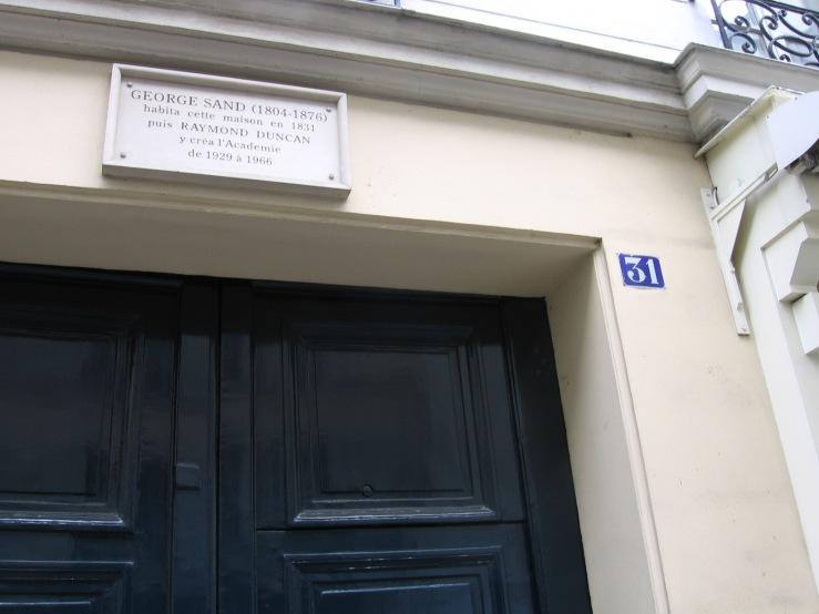 La Maison de George Sand, Quartier Latin