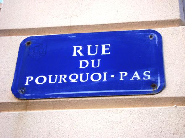 rue du pourquoi pas