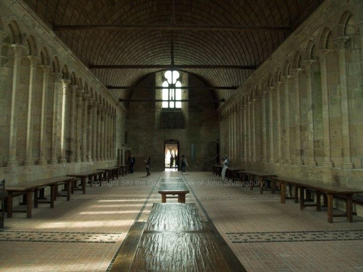 Refectory-Mont-St-Michel